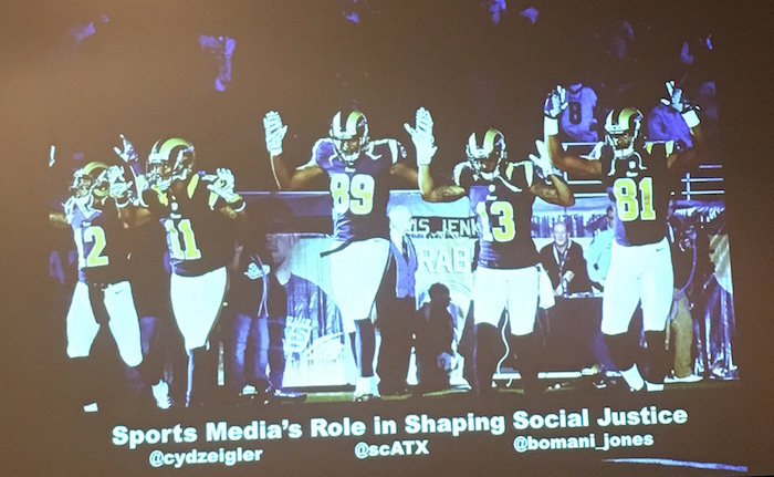 SXSW 2016 Slide from Sports Media and Social Justice Panel
