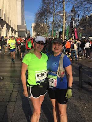 Paris Marathon me&Claire_n