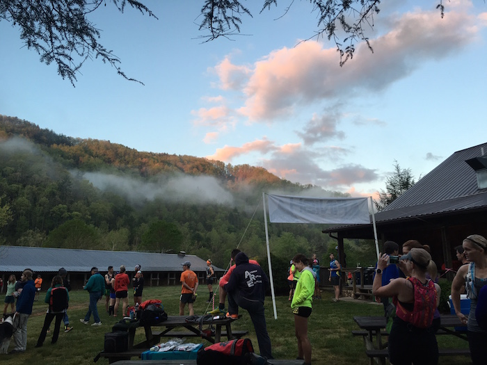 Race start at 2016 Leatherwood Ultra.
