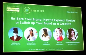 Panel from the UnBore Your Brand panel at BlogHer 2017
