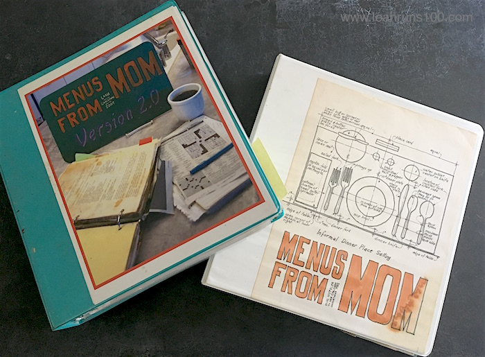 Two Nyfeler family cookbooks, each titled Menus From Mom