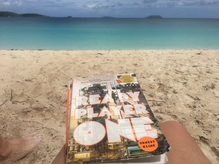 Book Ready Player One at the beach on St. John USVI