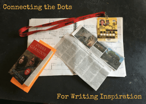 Connecting the Dots for Writing Inspiration with Outlander, X Games press pass, NYT article, and notebook