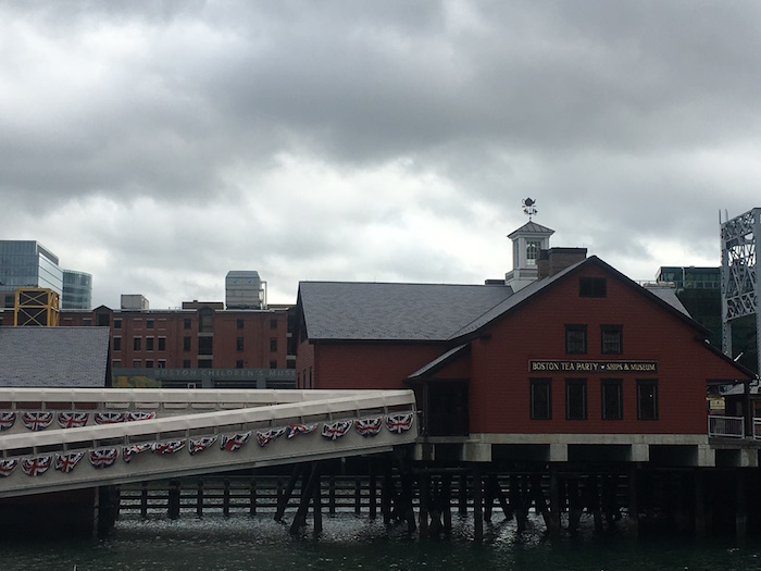 The Boston Tea Party museum at Boston Harbor.