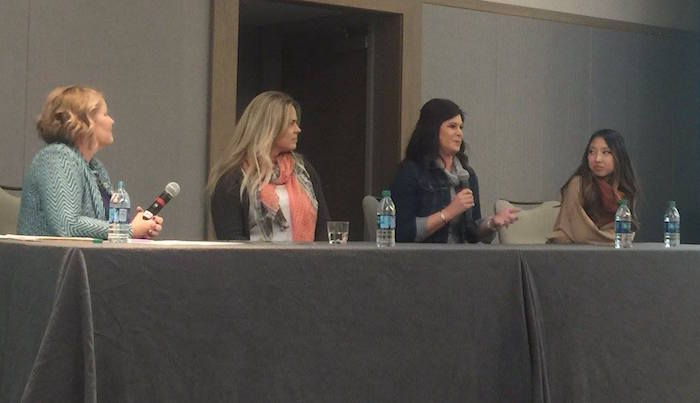Panelists Leah Fisher Nyfeler, Sonja Sommerfeld, Stephanie Carls, and Jane Ko at Get Smart 2017 in Austin.