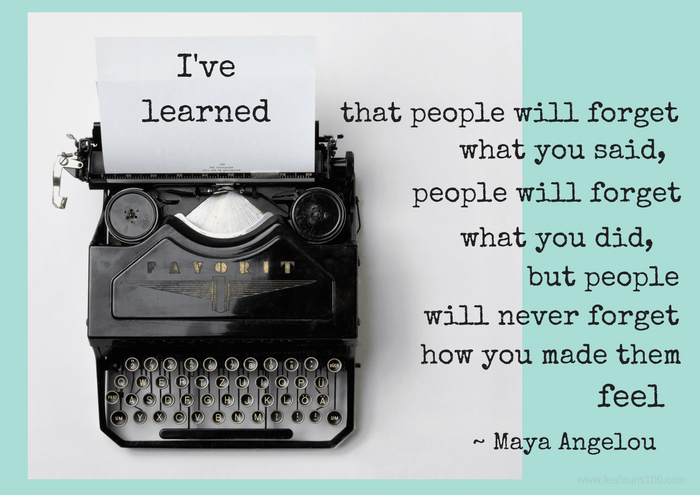 typewriter with Maya Angelou quote