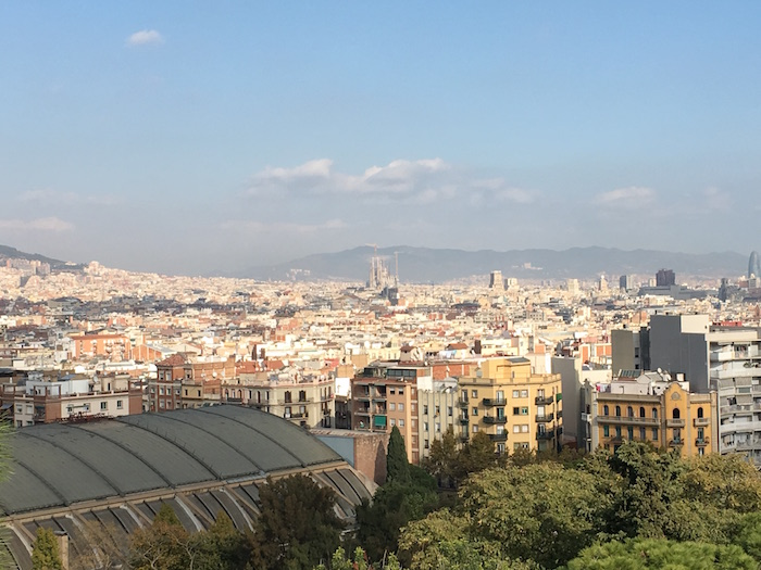 View of Barcelona toward Sagrada Familia
