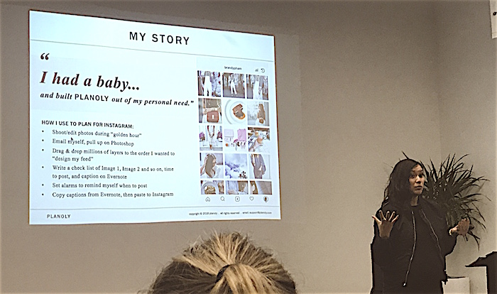 Brandy Pham discusses Planoly and Instagram for Business at SMWATX 2018