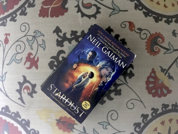 Paperback copy of Neil Gaiman book Stardust illustrated with movie images