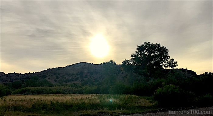 Sunrise through clouds Bosque River Loop Ojo Caliente