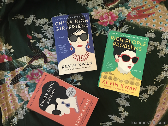 Kevin Kwan novels China Rich Girlfriend, Rich People Problems, and Crazy Rich Asians