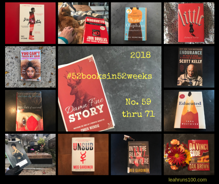 2018 52booksin52weeks Leah Nyfeler covers