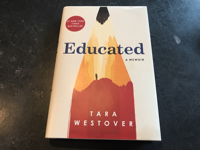 Cover of Tara Westover's memoir Educated
