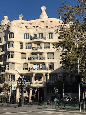 Architect Antoni Gaudi Casa Mila La Pedrera in Barcelona