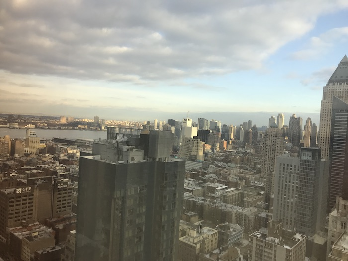View from 38th floor of Westin Times Square