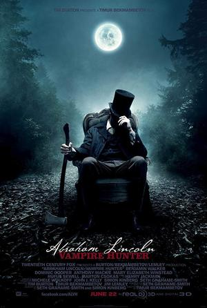 movie poster Abraham Lincoln Vampire Hunter 2012