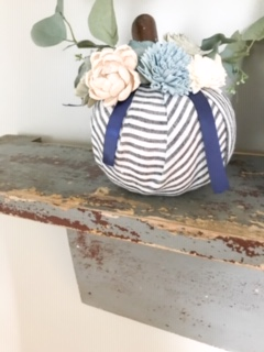 dollar tree floral pumpkin