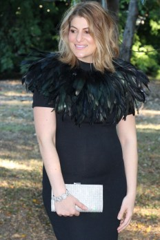 feather capelet barbara george