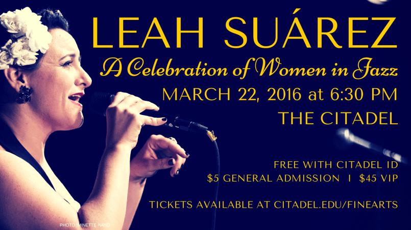 Leah Suárez: A Celebration of Women in Jazz @ THE CITADEL