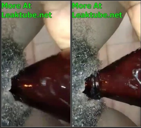 Kenya: Hairy Pussy Woman Masturbating With Beer Bottle