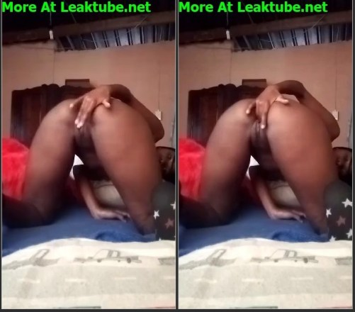 South Africa 3min Video of Slender Teen Gugu From Gauteng Fingering Her Ass Leak