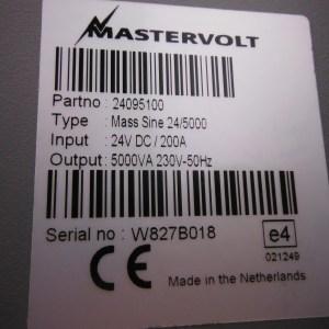 Mastervolt Mass-Combi Sinewave 24v/5000w. Inverter / Charger