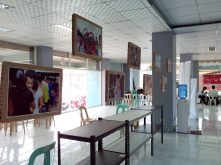 Photo exhibit in the Save The Children office in Tacloban.