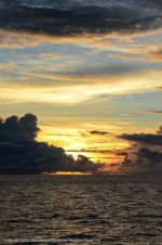 Sunset captured in a photo aboard a ship on the way to Romblon.
