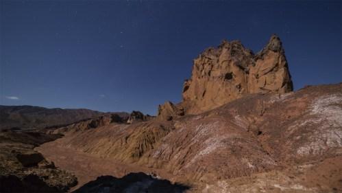 Estrellas y formación rocosa