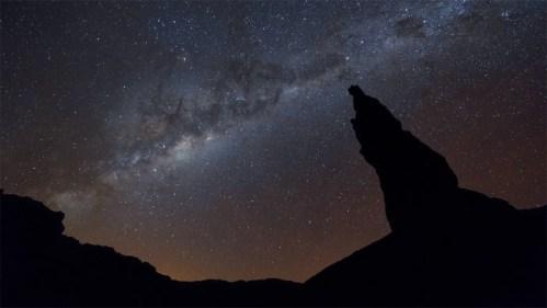 Form. rocosa y Vía Láctea