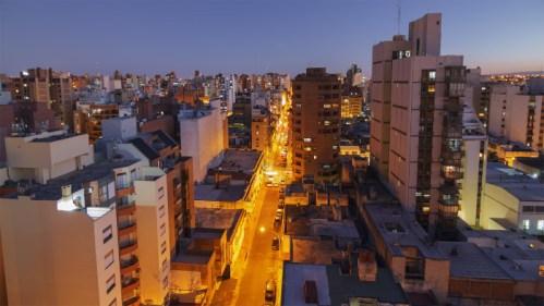 Transición día a noche en Córdoba
