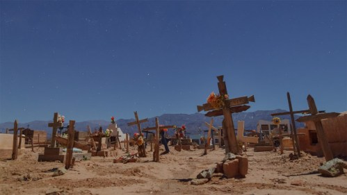 Cruces, cementerio y Vía Láctea