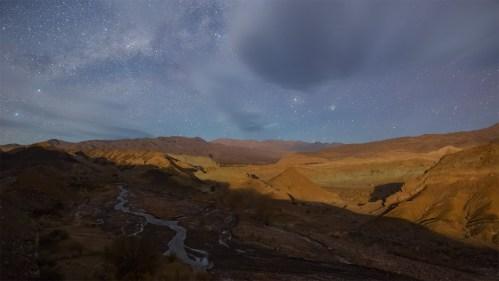 Salida de Luna y Vía Láctea