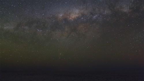 Vía Láctea durante eclipse