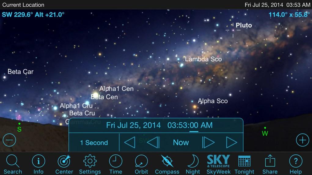 Previsualizando una toma nocturna con SkySafari y PhotoPills