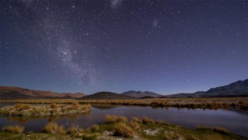 Día a noche y Vía Láctea