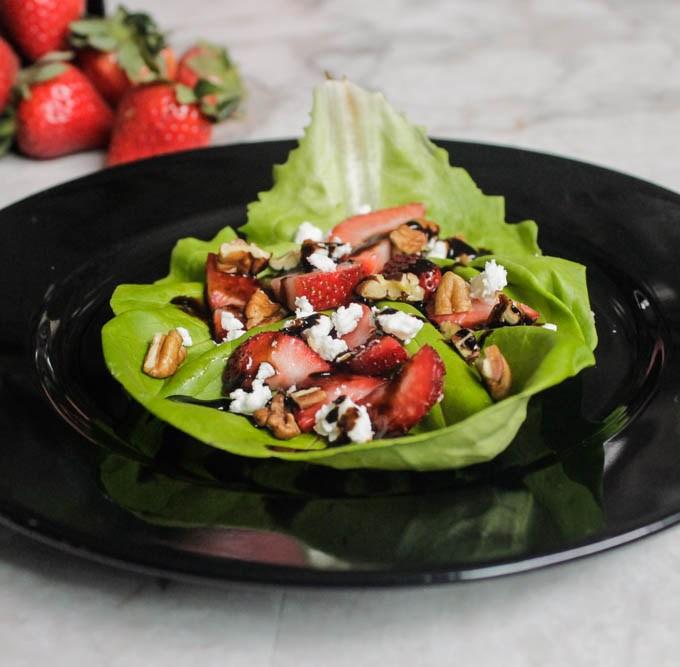 Strawberry Balsamic Lettuce Wraps