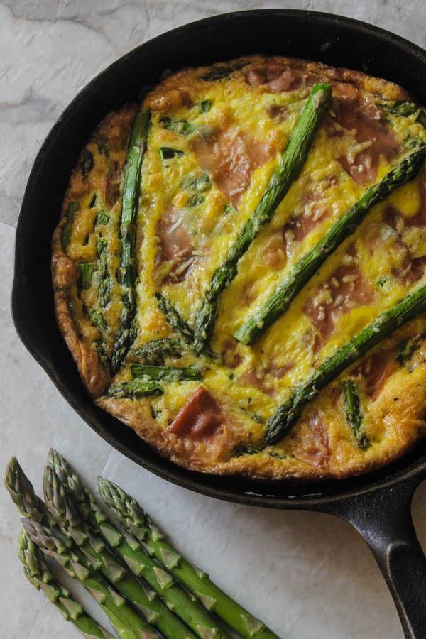 Prosciutto & Asparagus Frittata - Lean Green Nutrition Fiend