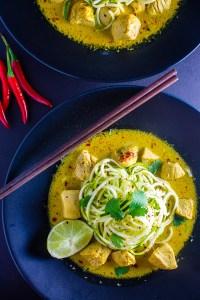 Thai Coconut Curry Zucchini Noodles