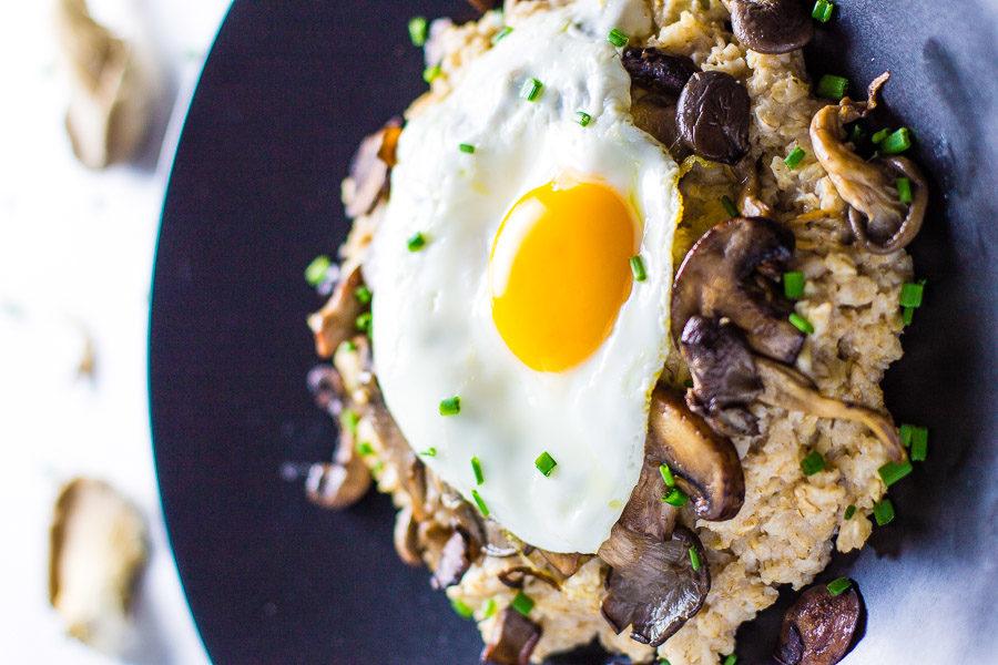 Savory Mushroom Oatmeal Bowl