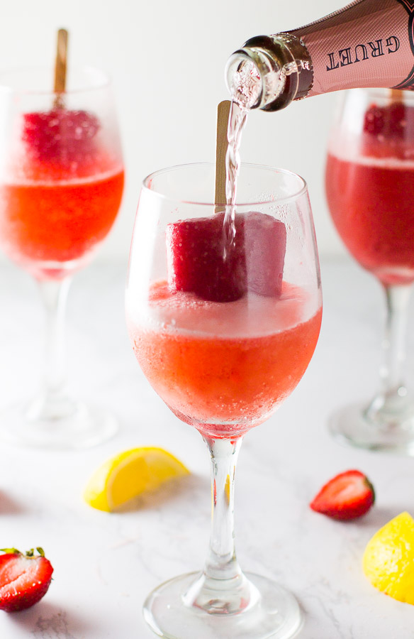Strawberry Lemonade Popsicle Rosé