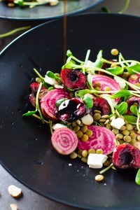 Cherry Beet Lentil Salad