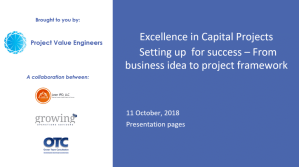 Webinar & Slides: Excellence in Capital Projects – Part 1: Setting up for Success