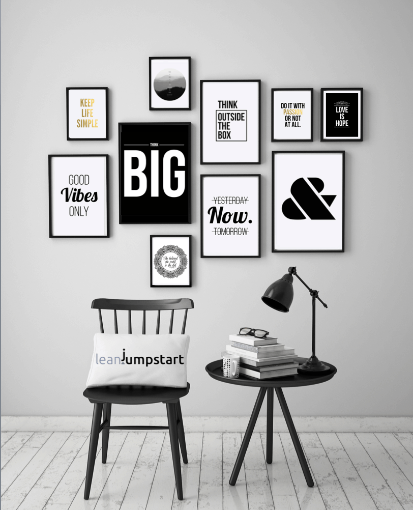 famous mottos: How to create a modern, inspirational gallery quick and easy
