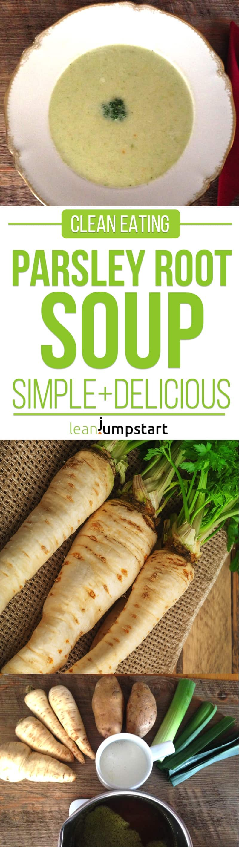 parsley root soup: a quick and easy clean eating soup recipe for weight management