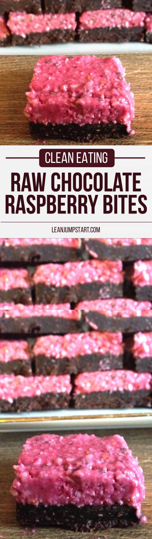 clean eating raw chocolate raspberry bites