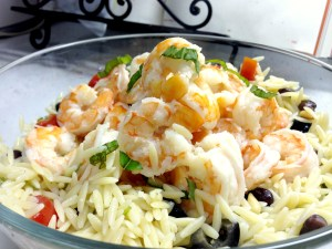 Tasty Tuesday – Orzo Salad Recipe with Coconut-Lime Shrimp + A Hell of a Monday