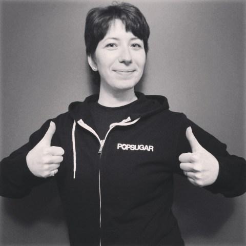 a sweat hoodie with Popsugar logo!