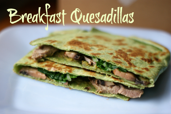 Breakfast Quesadillas Recipe and Tasty Tuesday Linkup #50