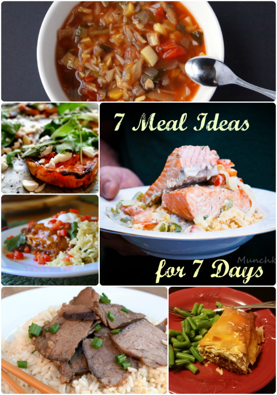 Meal Ideas for 7 Days and Tasty Tuesday Linkup #52